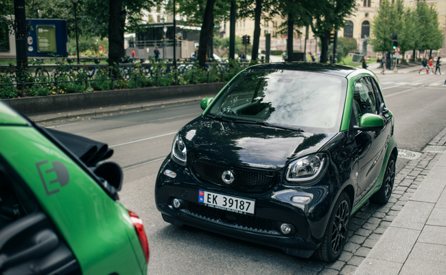 smart fortwo elbil oslo