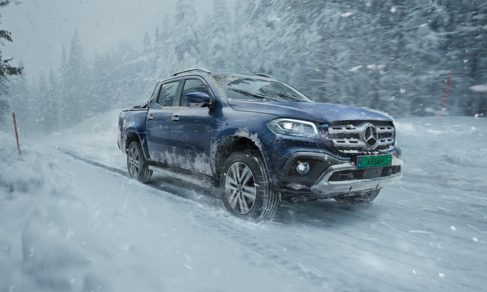 Mercedes Benz X-Klasse, snow, mammoth, forest, hero, transportation, LLR, USA